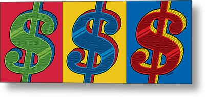 Metal Print featuring the digital art Money Money Money by Ron Magnes