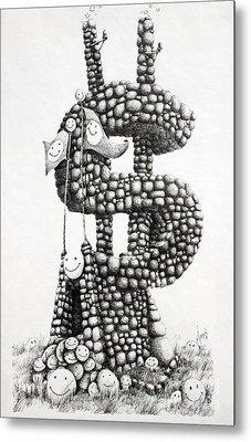 Money Monument Metal Print by James Williamson