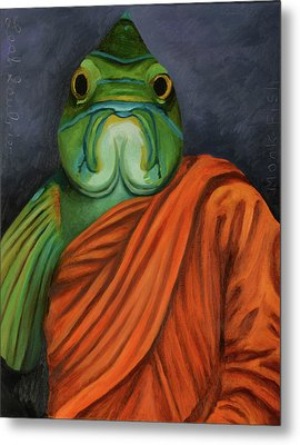 Monk Fish Metal Print by Leah Saulnier The Painting Maniac