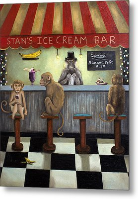 Monkey Business Metal Print by Leah Saulnier The Painting Maniac