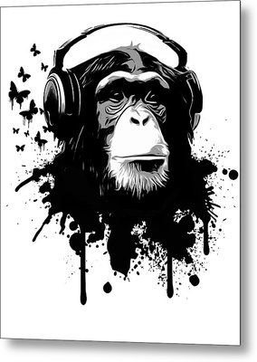 Monkey Business Metal Print by Nicklas Gustafsson