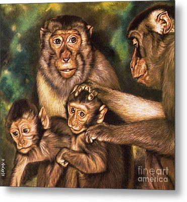 Monkey Family Metal Print