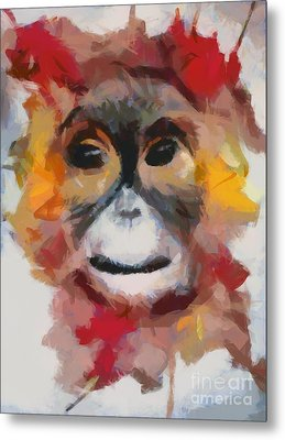 Monkey Splat Metal Print