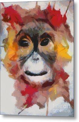 Monkey Splat Metal Print by Catherine Lott