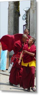 Monks' Reality Check  Metal Print by Dagmar Batyahav