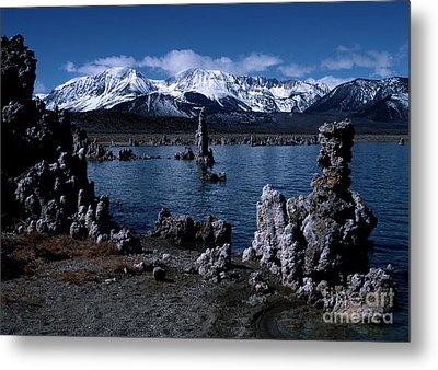 Mono Lake-signed Metal Print by J L Woody Wooden