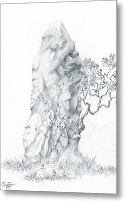 Metal Print featuring the drawing Monolith 2 by Curtiss Shaffer