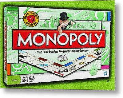 Monopoly Board Game Painting Metal Print by Tony Rubino