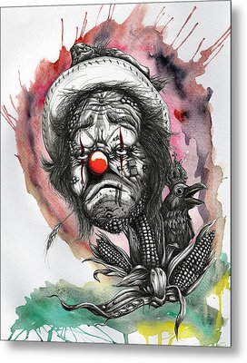Monsanto's Sad Clown Corn Affair Metal Print