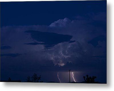 Monsoon Cloud And Lightening 20 Metal Print