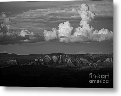 Metal Print featuring the photograph Monsoon Clouds Over Sedona by Ron Chilston
