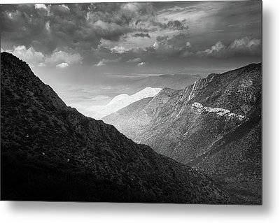 Metal Print featuring the photograph Monsoon Clouds Over Storm Canyon by Alexander Kunz