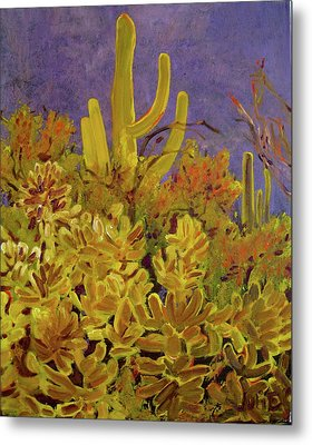 Metal Print featuring the painting Monsoon Glow by Julie Todd-Cundiff