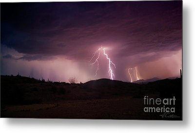 Monsoon Lightning Metal Print by Anthony Citro