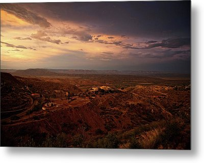Metal Print featuring the photograph Monsoon Storm Afterglow by Ron Chilston
