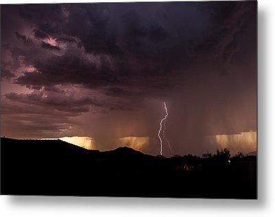 Monsoon Storm Metal Print by Dennis Eckel