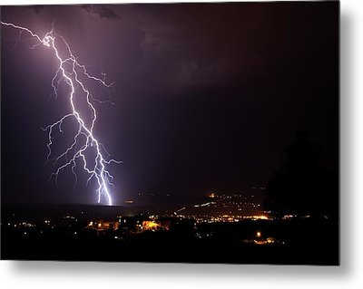 Metal Print featuring the photograph Monsoon Storm by Ron Chilston