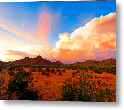 Monsoon Storm Sunset Metal Print