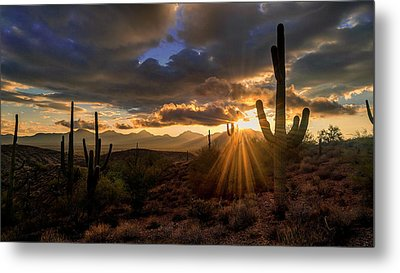 Metal Print featuring the photograph Monsoon Sunburst by Anthony Citro