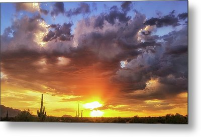 Metal Print featuring the photograph Monsoon Sunset by Anthony Citro