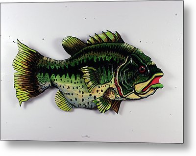 Monster Bass Metal Print by Bob Crawford