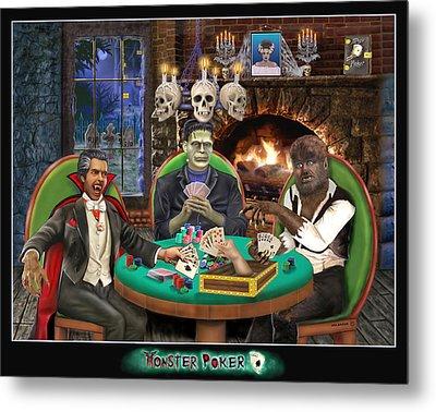 Monster Poker Metal Print by Glenn Holbrook