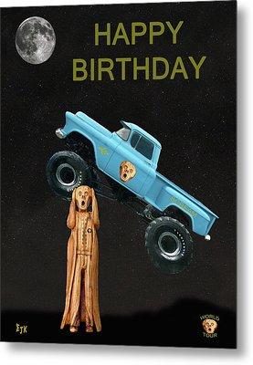 Monster Truck The Scream World Tour Happy Birthday Metal Print by Eric Kempson