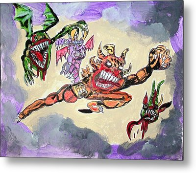 Monsters With Disagreements Metal Print