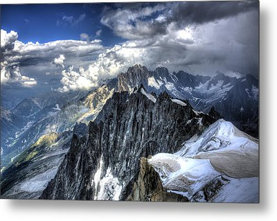 Metal Print featuring the photograph Mont Blanc Near Chamonix In French Alps by Shawn Everhart