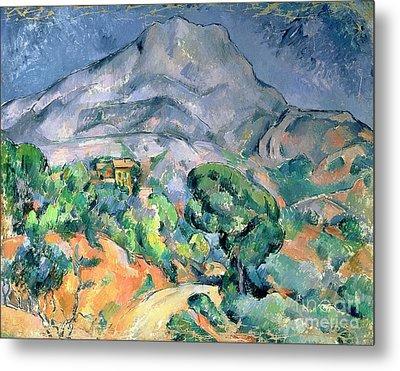 Mont Sainte Victoire Metal Print by Paul Cezanne