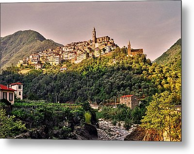 Montalto Ligure - Italy Metal Print by Juergen Weiss