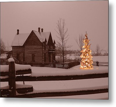 Montana Christmas Metal Print by Paul Porto