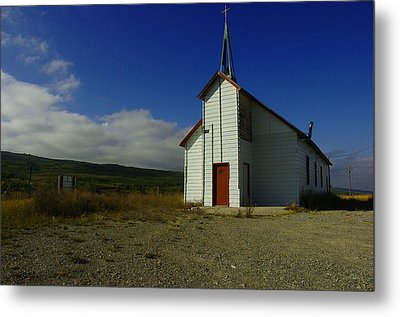 Montana Church Metal Print by Tom  Reed