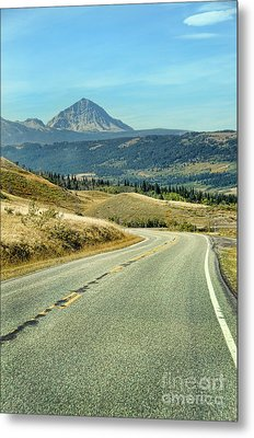 Metal Print featuring the photograph Montana Road by Jill Battaglia