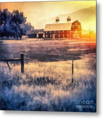 Montana Sunrise Metal Print by Edward Fielding
