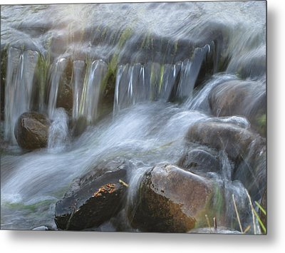 Montana Waterfall Metal Print by Kristy Marsich