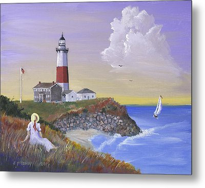 Montauk Lighthouse Metal Print by Jerry McElroy