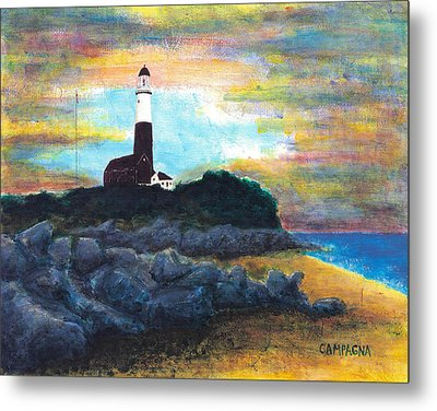 Montauk Point Metal Print by Teddy Campagna