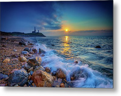 Montauk Sunrise Metal Print by Rick Berk