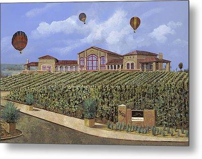 Monte De Oro And The Air Balloons Metal Print by Guido Borelli