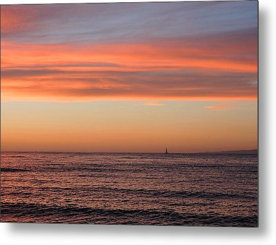 Monterey Bay Sunset Metal Print by Connor Beekman