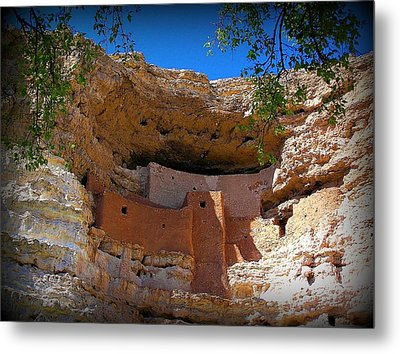 Montezuma Castle In Arizona Metal Print by Jen White