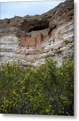 Montezuma Cliff Dwellings Metal Print by Jeanette Oberholtzer