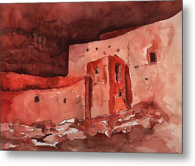 Montezuma's Castle Metal Print by Sharon Mick