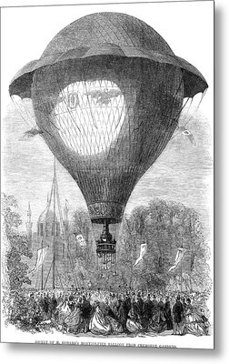 Montgolfier Balloon, 1864 Metal Print by Granger