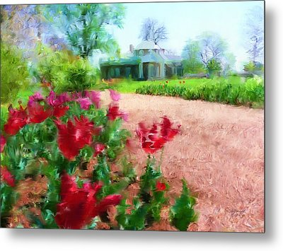 Monticello Metal Print by Cindy Wright