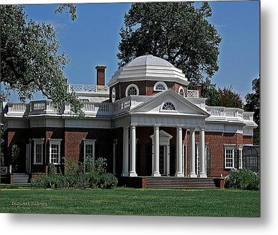 Monticello Metal Print by DigiArt Diaries by Vicky B Fuller
