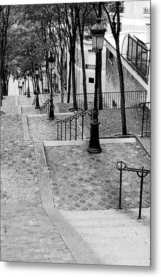 Montmartre Stairway Paris Metal Print by Pierre Leclerc Photography