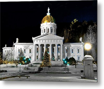 Montpelier Christmas Eve Night Metal Print