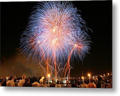 Montreal Fireworks Celebration  Metal Print by Pierre Leclerc Photography